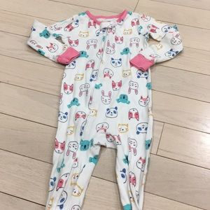 Carter's Girls Zipper Pajamas 2T